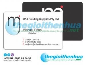 In name card nhựa cho công ty M & J