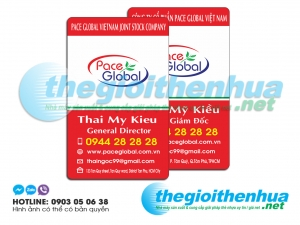 In name card nhựa cho Pace Global Company