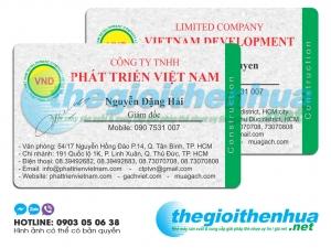 In name card nhựa cho công ty TNHH Phát Triển Việt Nam