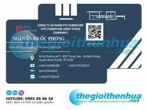 In name card nhựa cho công ty cổ phần PTC FURNITURE