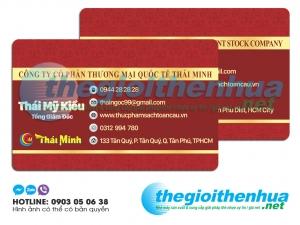 In name card nhựa cho công ty cổ phần thương mại quốc tế Thái Minh