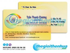 In name card nhựa cho công ty TNHH Thương Mại DV Quảng Cáo Nội Thất Trần Chương
