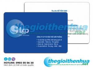 In name card nhựa cho công ty Thế Giới Phẳng