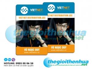 In thẻ nhân viên cho công ty Viet Net