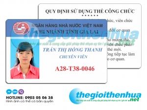 In thẻ nhân viên cho ngân hàng Gia Lai