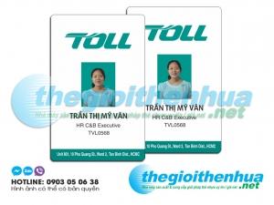 In thẻ nhân viên cho công ty Toll