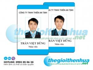 In thẻ nhân viên cho công ty TNHH Thiên An Thịnh