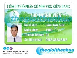 In thẻ thành viên cho công ty cổ phần gỗ MDF VRG Kiên Giang
