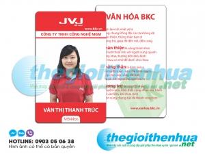In thẻ nhân viên cho công ty TNHH Công Nghệ MGM