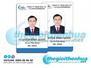 In thẻ nhân viên cho công ty TNHH Đầu Tư V.A.EKATERINBUGD