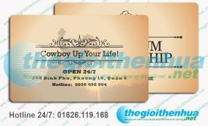 In member card cho nhà hàng Cowboy