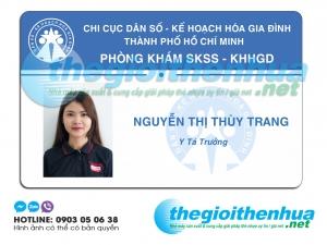In thẻ nhân viên cho phòng khám SKSS- KHHGD