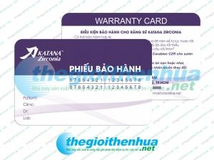 In thẻ bảo hành cho công ty Katana