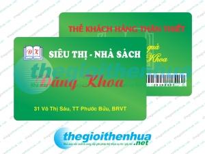 In thẻ khách hàng thân thiết cho Siêu thị- Nhà Sách Đăng Khoa