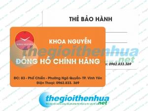 In thẻ bảo hành cho Khoa Nguyễn