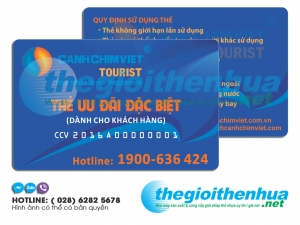 In thẻ ưu đãi cho CanhChimViet Tourist