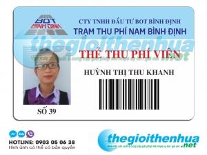 In thẻ thu phí viên cho Trạm thu phí Nam Bình Định