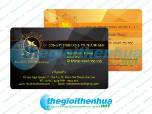 In member card cho Thanh Mai Hotel