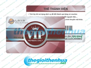 In vip member card cho Lava BBQ & Hotpot
