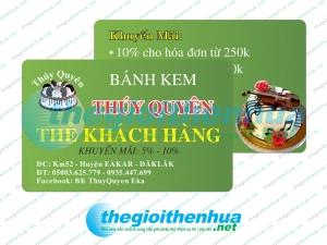 In thẻ khách hàng cho tiệm Bánh Kem Thúy Quyên
