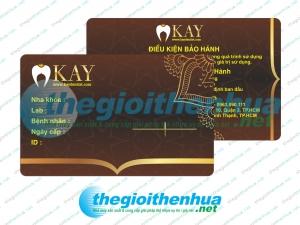 In thẻ bảo hành cho KAY Dentist