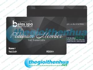In gold member card cho Belas Spa