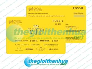 In vip card cho cửa hàng FOSSIL