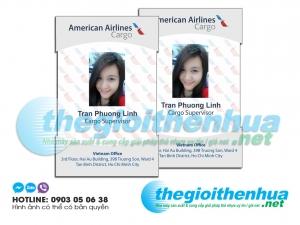 In thẻ nhân viên cho American Airlines