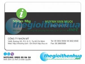 In name card trong suốt cho công ty Nhơn Mỹ
