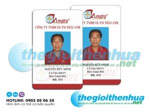 In thẻ nhân viên cho công ty TNHH SX TM Thái Anh