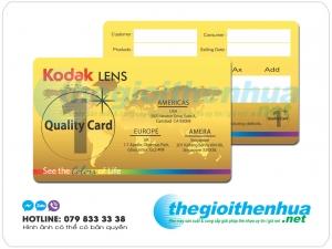 Mẫu In Thẻ Bảo Hành Sản Phẩm Chính Hãng Kodak Lens